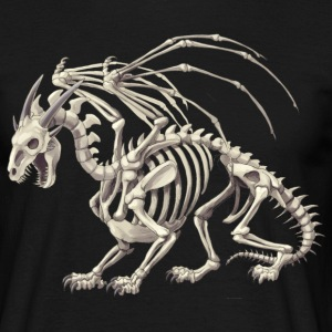 dragon skeleton - T-shirt herr