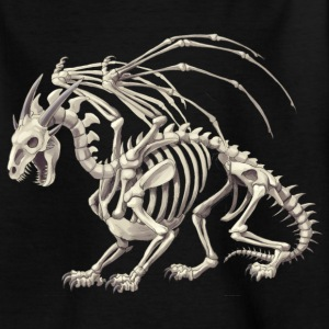 skeletal dragon - T-shirt barn