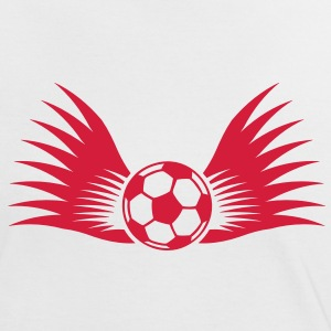 ball with wings small 1c Camisetas - Camiseta contraste mujer