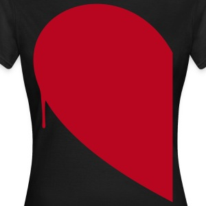 Half Heart Woman T-Shirts - Women's T-Shirt