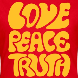 Love Peace Truth * Lifestyle 70s T-Shirts Goa T-shirts - T-shirt dam
