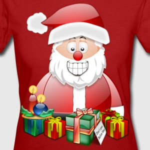 Father Christmas Santa St Nick with candles presents - Women's Organic T-shirt