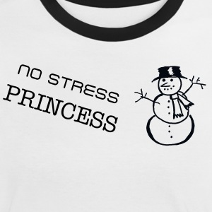 No Stress Princess - Snowman - Women's Ringer T-Shirt