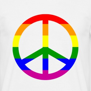 gay peace rainbow T-Shirts - Männer T-Shirt