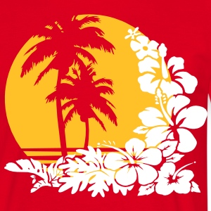 palm sunset T-Shirts - Männer T-Shirt