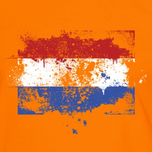 Dutch flag grunge graffiti style Orange pride T-Shirts - Men's Ringer Shirt