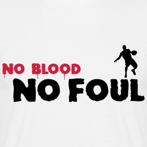 Vit No Blood No Foul Basketball T-shirts (kort ärm) - T-shirt herr