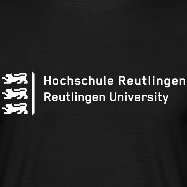 Hochschule Reutlingen, T-Shirt Herren, schwarz