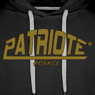 Motif ~ swet noir PATRIOTE homme logo couleur or