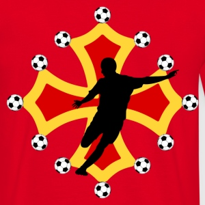 occitania cross football design Tee shirts - T-shirt Homme