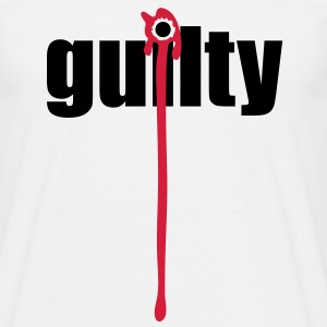 Guilty | Blood | Margin T-Shirts - Men's T-Shirt