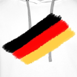White Germany Hoodies & Sweatshirts - Men's Premium Hoodie