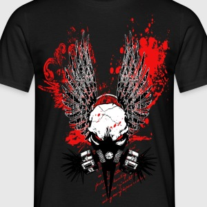 Winged CyberPunk Skull V2 T-Shirts - Men's T-Shirt