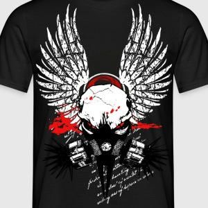 Cyber Punk Winged Skull V6 T-Shirts - Men's T-Shirt