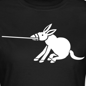 a donkey dragging on a lead T-Shirts - Women's T-Shirt