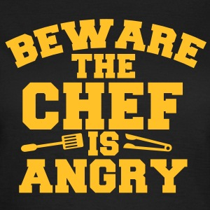 beware the chef cook is angry! tongs and fork T-Shirts - Women's T-Shirt