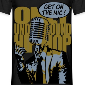 Get on the mic ! or/argent - T-shirt Homme
