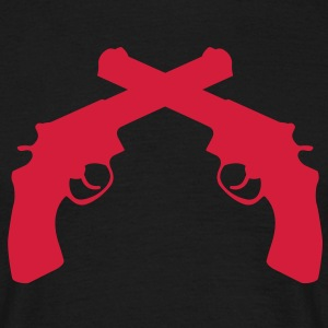 Crossed Revolvers Guns T-Shirts - Männer T-Shirt