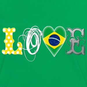 Love Brazil White - Frauen Kontrast-T-Shirt