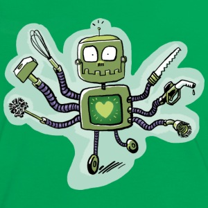 robot_love T-Shirts - Frauen Kontrast-T-Shirt