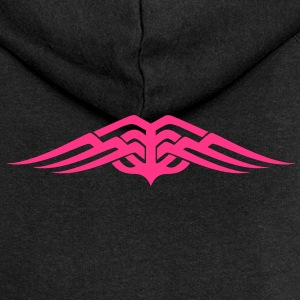 Womens Tribal tattoo wings design Hoodie - Women's Premium Hooded Jacket