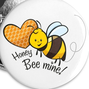Button Bee mine - Buttons mittel 32 mm