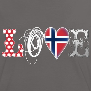 Love Norway White T-Shirts - Frauen Kontrast-T-Shirt
