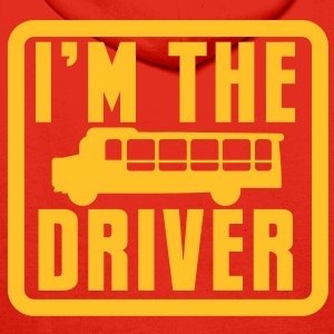 I'm the BUS DRIVER with a bus in a square Hoodies & Sweatshirts - Men's Premium Hoodie
