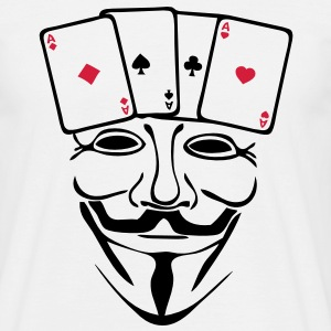 anonymous mask masque carte poker2 as2 Tee shirts - T-shirt Homme