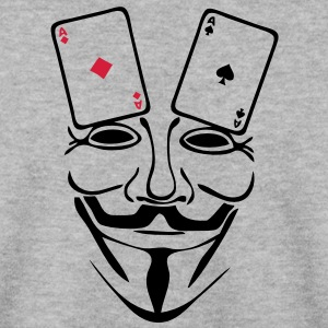 anonymous mask masque carte poker as1 Sweat-shirts - Sweat-shirt Homme