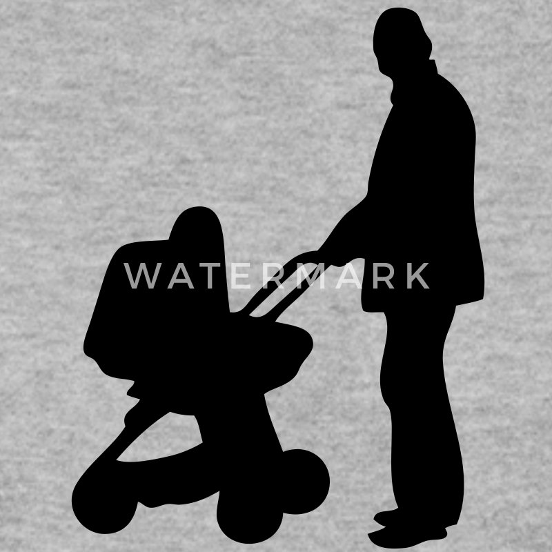 dad stroller papa poussette silhouette1 Sweat-shirts - Sweat-shirt Homme