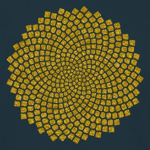 Sunflower Seed, digital gold,  Fibonacci spiral, Golden cut, Golden angle T-skjorter - T-skjorte for menn