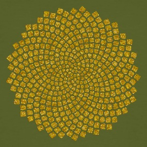 Sunflower Seed, digital gold,  Fibonacci spiral, Golden cut, Golden angle Tee shirts - T-shirt bio Homme