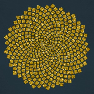 Sunflower Seed, digital gold,  Fibonacci-Spirale, Goldener Schnitt, Goldener Winkel, Pi T-Shirts - Frauen T-Shirt