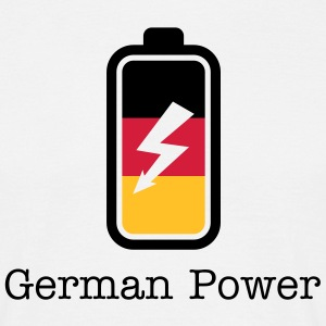German Power | Batterie | charged T-Shirts - T-shirt herr