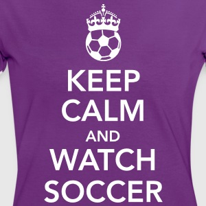 keep calnm and watch soccer T-Shirts - Frauen Kontrast-T-Shirt