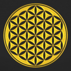 fiore della vita - Flower of life - gold - sacred geometry - power of balancing and energizing, energy symbol T-shirt - T-shirt ecologica da donna