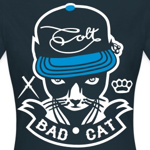 Navy Bad Cat - GeddoCat T-Shirts - Women's T-Shirt