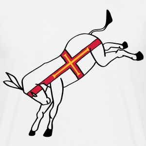 Guernsey flag donkey - Men's T-Shirt