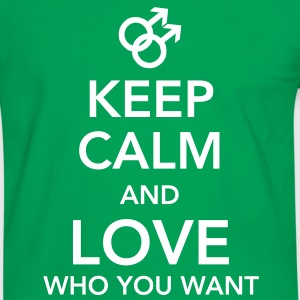 keep calm and love who you want - gay T-shirts - Mannen contrastshirt