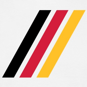 german stripe flag T-Shirts - T-shirt Homme