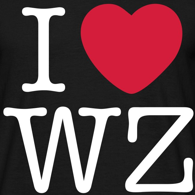 I LOVE WZ T-Shirt schwarz