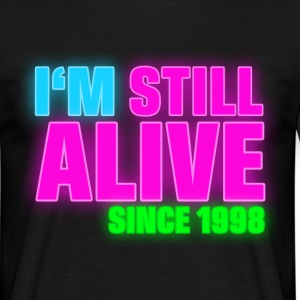 NEON - Birthday - still alive since 1998 (nl) T-shirts - Mannen T-shirt
