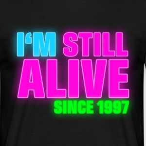 NEON - Birthday - still alive since 1997 (nl) T-shirts - Mannen T-shirt