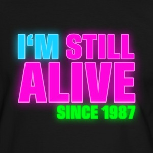 NEON - Birthday - still alive since 1987 (dk) T-shirts - Herre kontrast-T-shirt