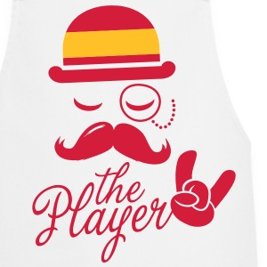 Spain retro gentleman sports player rock | olympics | football | Championship | Moustache | Flag European  Aprons - Cooking Apron