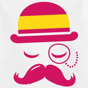 Spain fashionable retro iconic gentleman in flag| sports | football | Moustache | Flag Barn-T-shirts - T-shirt tonåring