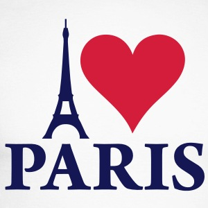 i_love_paris_2c Tee shirts manches longues - T-shirt baseball manches longues Homme