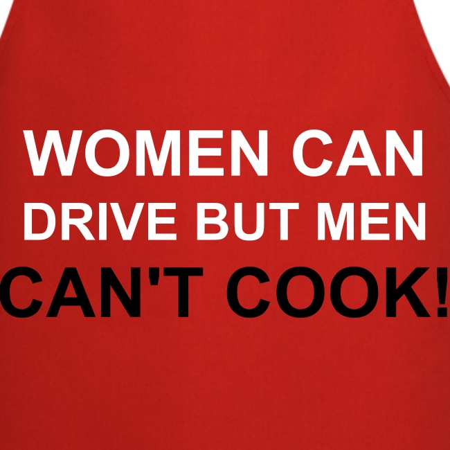 Red Apron - Women can drive
