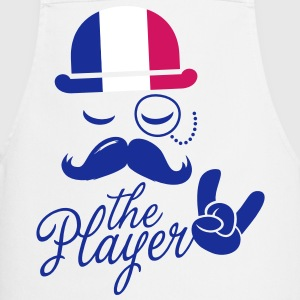 France retro gentleman sports player rock | olympics | football | Championship | Moustache | Flag European  Aprons - Cooking Apron